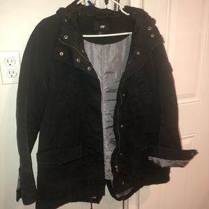 H&M black women's winter coat